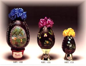 Art.145 - 140 - 135 - UOVO PASQUALE DECORATO cioccolato dalba