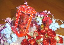 art.360 Boero Cioccolatino con ciliegia cioccolato fondente  SCATOLA CUBICA  gr.150