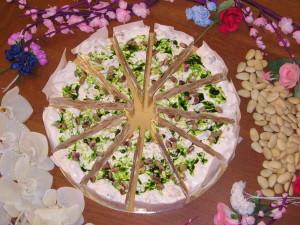 Art.1012 Torta di Torrone Ten. kg.2,2 Pistacchi dolciaria dalba natale