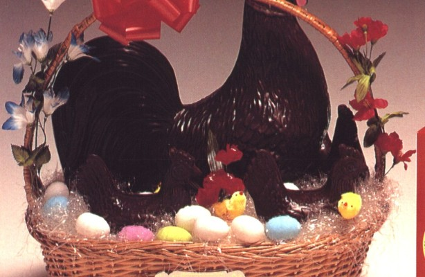 Art.125 gallo cioccolato con gallinelle