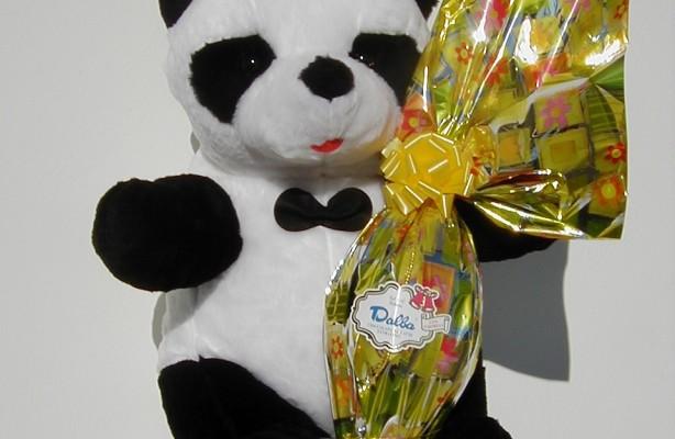 Art.718 uovo cioccolato gr.400 + peluche panda