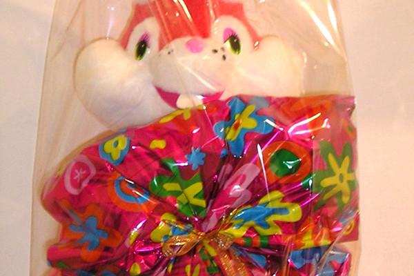 Art.718 uovo cioccolato gr.400 + peluche coniglio ferrero