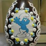uovo+cioccolato+ decorato+ dalba+pasqua+9