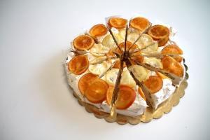 torta -torrone- arancio e limone -fette - natale